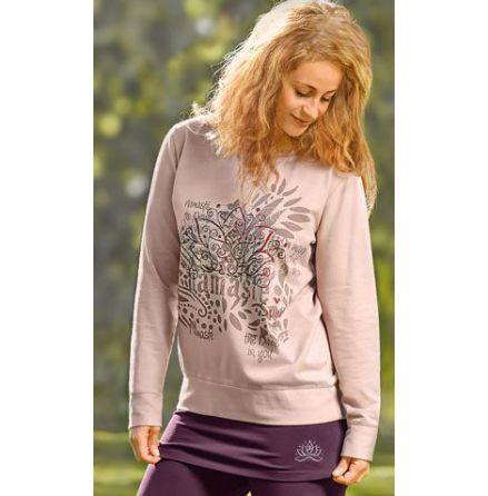 Sweatshirt Namasté Rosenrosa