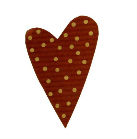 Etikett Hjärta rödprickigt 31x42