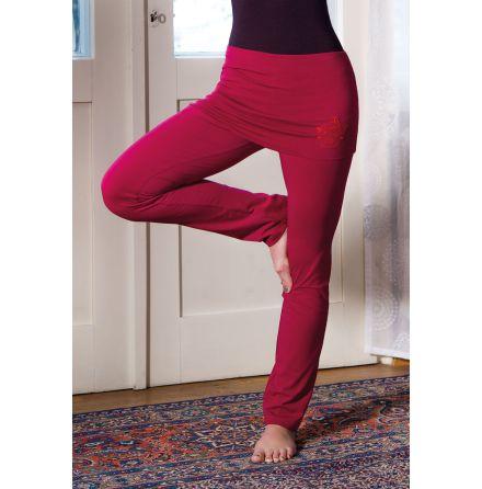 Yogabyxor rosenröda med kjol