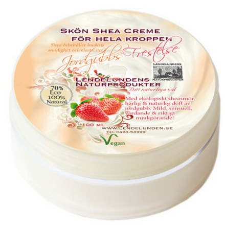 Jordgubbsfrestelse shea bodybutter 100ml