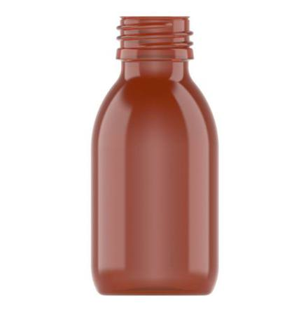 PET-flaska brun 100 ml sirop