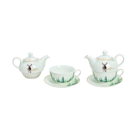 Afternoon Tea set Christmas tre delar