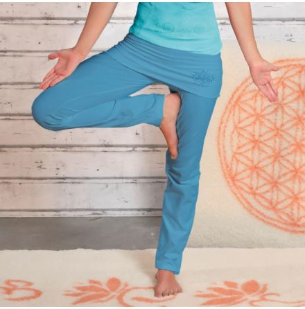 Yogapants with skirt Aloha Blue