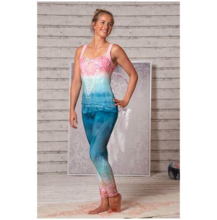 Yoga Leggings Indigo/Peach